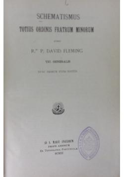 Schematismus,1903r.