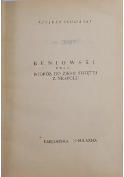 Beniowski oraz podróż do Ziemi Świętej z Neapolu, 1931 r.