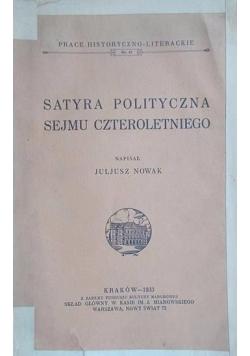 Satyra polityczna sejmu czteroletniego, 1933r