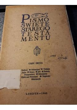 Pismo Święte Starego i Nowego Testamentu, 1946 r., cz 2
