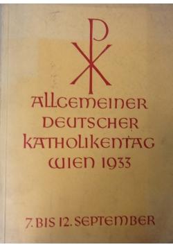 Allgemeiner Deutscher Katholikentag Wiernn 1933, 1934 r.