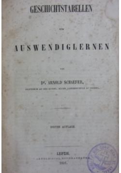 Geschichtstabellan zum auswendiglernen, 1851 r.