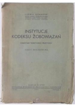 Instytucje Kodeksu Zobowiązań , 1948 r.