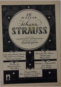 15 walzer von Johann Strauss, 1944 r.