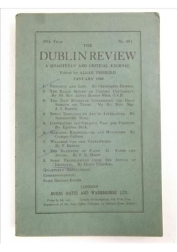 The Dublin Review: January, No. 384, 1933 r.