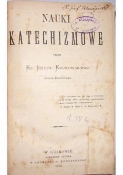 Nauki katechizmowe, 1875 r.
