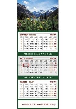 Kalendarz 2019 Ścienny Trójdzielny Alpy