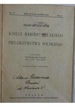 Księgi narodu Polskiego i pielgrzymstwa Polskiego, 1922 r.
