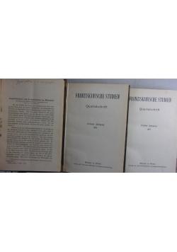 Franziskanische studien Quartalschrift, tmo I-III,  ok. 1919 r.