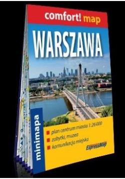 Comfort!map Warszawa 1:26 000 plan, mini 2018