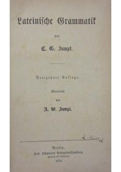 Lateinische grammatik , 1874