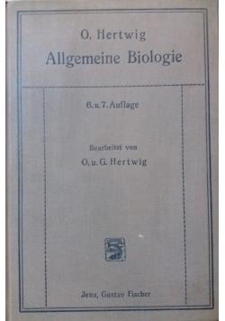 Allgemeine Biologie,1923r.