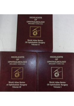 Highlights of Ophthalmology Vol. I-III