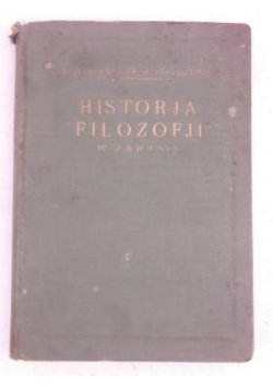 Historja Filozofji, 1928 r.