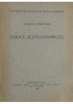 Szkice językoznawcze, 1928r.