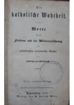 Katolilche Mahrheit, 1852 r.