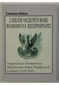 Z dziejów naczelnych władz wojskowych II Rzeczypospolitej