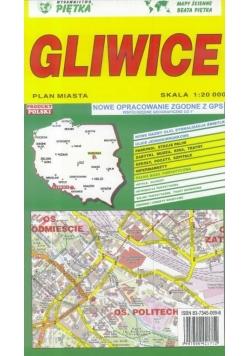 Gliwice 1:20 000 plan miasta PIĘTKA