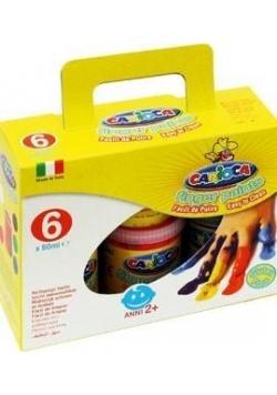 Farba Tempera do malowania palcami 6 kol. CARIOCA