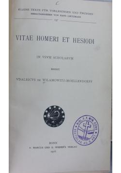 Vitae Homeri Et Hesiodi, r . 1916