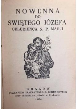 Nowenna do Świętego Józefa, 1930 r.