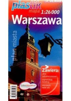 Plan miasta - Warszawa PLASTIK  DEMART