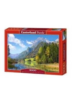 Puzzle 3000 Górski azyl w Alpach CASTOR