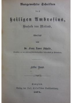 Ausgewahlte Schriften des heiligen Ambrosins, 1871 r.