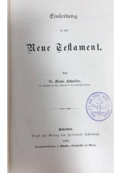 Einleitung in das neue testament, 1898 r.