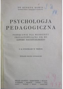 Psychologia pedagogiczna, 1930 r.
