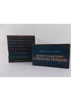 Kompletne wydanie książek o Sherlocku Holmesie, 9 książek