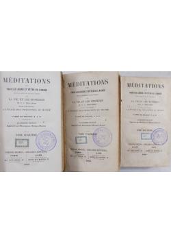 Meditations T. II, IV, V, 1853 r.