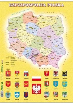 Puzzle - Polska administracyjna