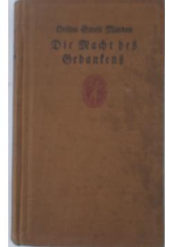 Die Macht Des Gedankens, 1928 r.