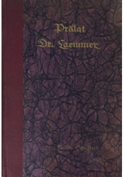 Pralat Dr. Hugo Laemmer, 1926r.