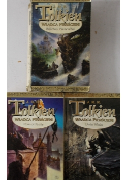 Władca pierścieni 3 książki:  Bractwo  Pierścienia,Dwie wierze / Powrót króla