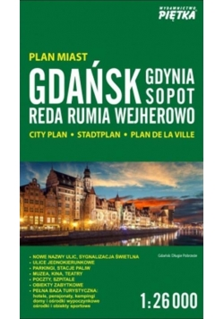 Gdańsk, Gdynia, Sopot 1:26 000 plan miasta PIĘTKA