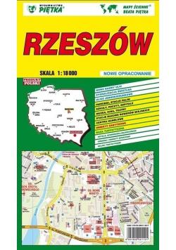 Rzeszów 1:18 000 plan miasta PIĘTKA