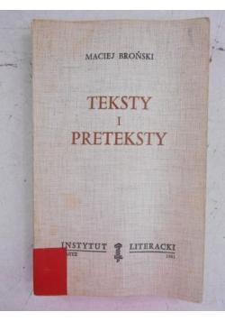 Teksty i preteksty