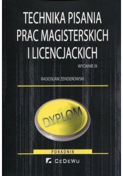 Technika pisania prac magisterskich i lic.