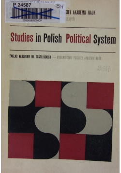Studies In Polish Political System