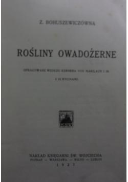 Rośliny owadożerne, 1927r.