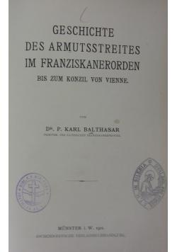 Gesichte des armutsstreites im Franziskanerorden, 1911 r.