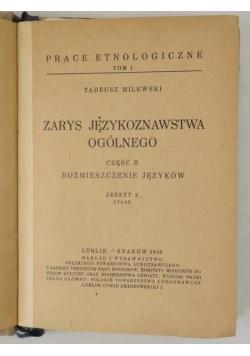 Zarys językoznawstwa ogólnego, część II. Rozmieszczenie języków, 1948 r.