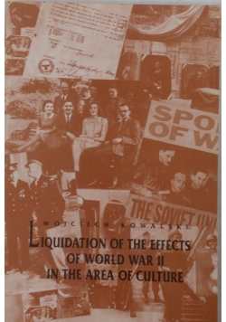 Liquidation of the effects of world war II in the area of culture
