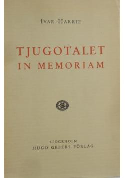 Tjugotalent in memoriam