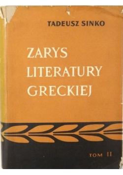 Zarys literatury greckiej, tom II