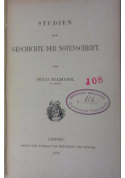 Studien zur Geschichte der Notenschrift, 1878 r.