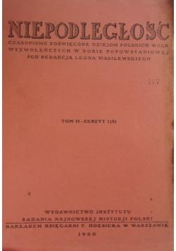Niepodległość , 1930r.  Tom II zeszyt 1