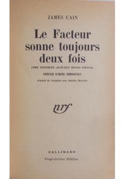 La Factur sonne toujours deux fois, 1948 r.